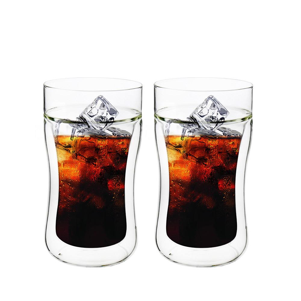 FUSHIMA 富島 公爵系列雙層耐熱曲線玻璃杯290ML*2入