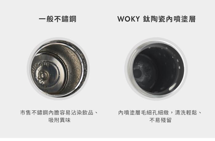 WOKY 沃廚  WOKY限定 米奇款360°輕芯鈦瓷真空雙蓋保溫杯350ml