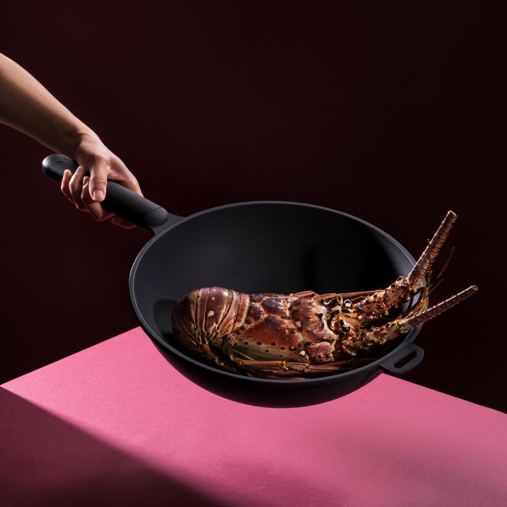 WOKY 沃廚|恰恰鍋 32CM 炒鍋 (鑽石平煎鍋雙鍋組)