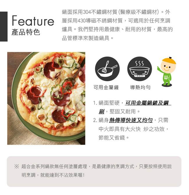 (複製)WOKY 沃廚|玫瑰金專利不鏽鋼炒鍋36cm(贈OK智慧感溫鍋鏟)