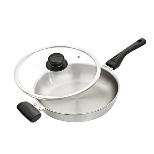 WOKY 沃廚|超合金不鏽鋼平煎鍋30CM