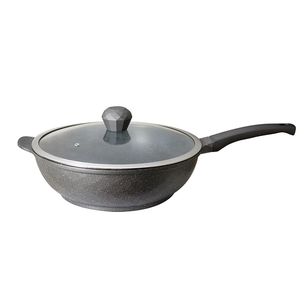 WOKY 沃廚xMARISSA|麥飯石不沾炒鍋32CM