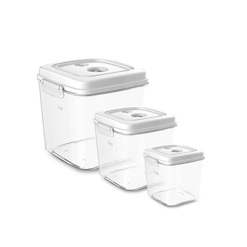 Lisscode|真空保鮮機專用收納罐 大中小3入組