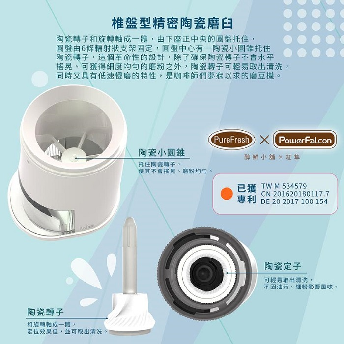 PowerFalcon|便攜性咖啡磨豆機