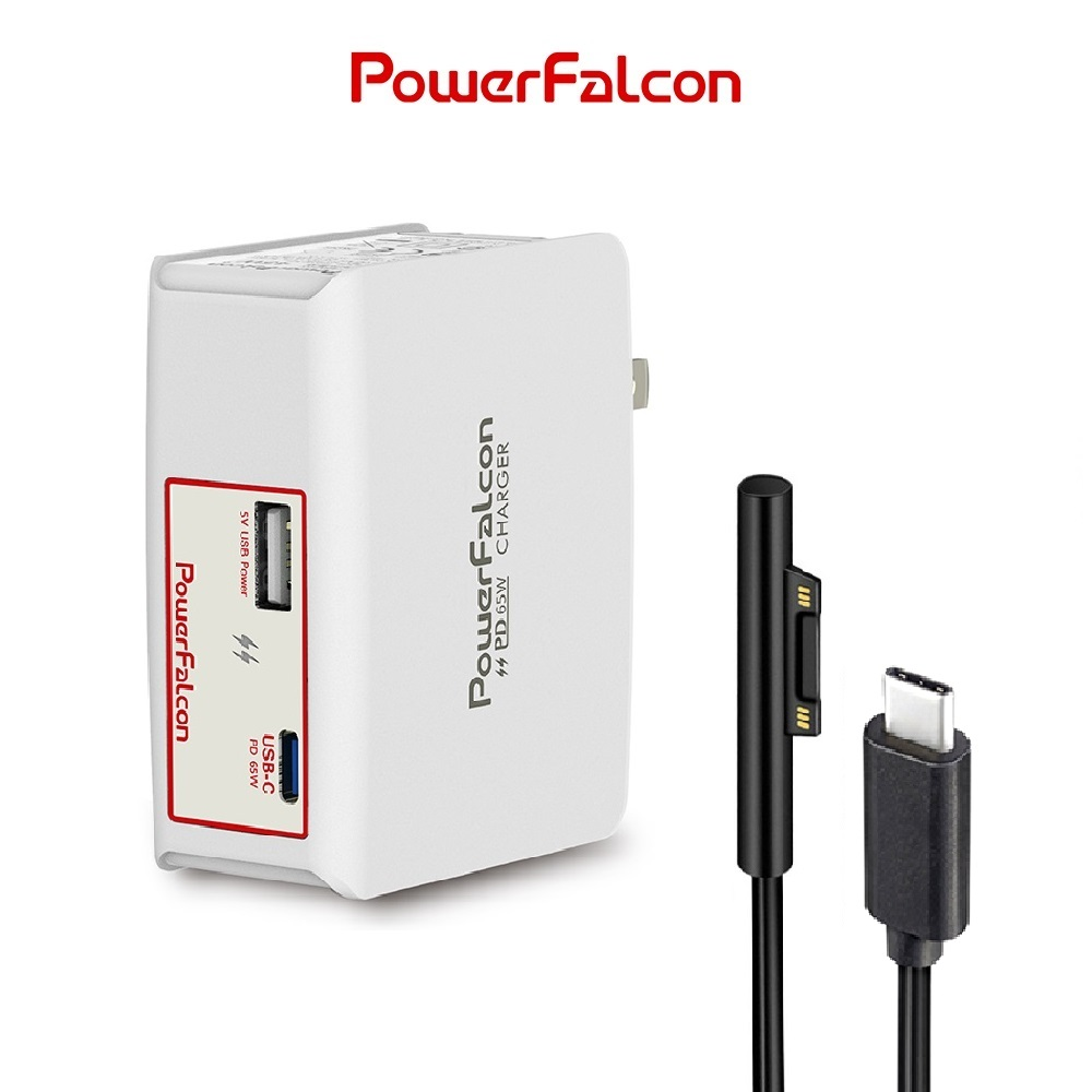 PowerFalcon ChorusTank-65 PD 雙口充電器贈Surface線