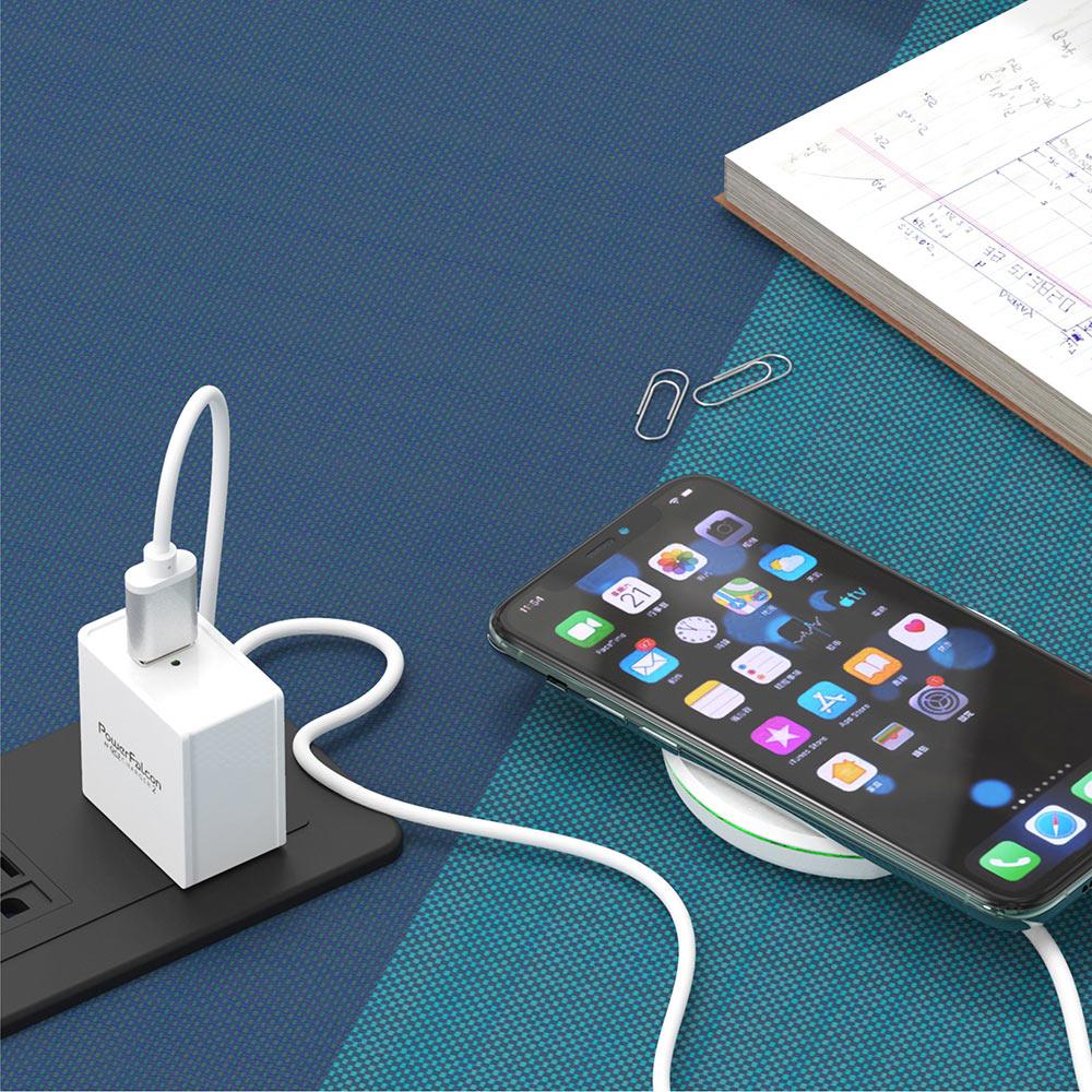 PowerFalcon|18W QC3快充充電器/USBA口