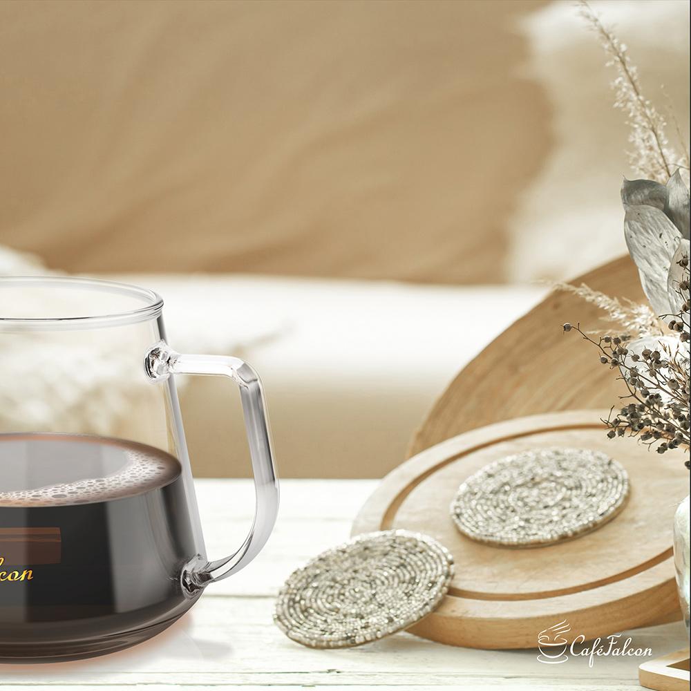 PowerFalcon|CaféFalcon 精品手沖咖啡濾杯組+PureFresh 醇鮮 咖啡磨豆機(第三代)