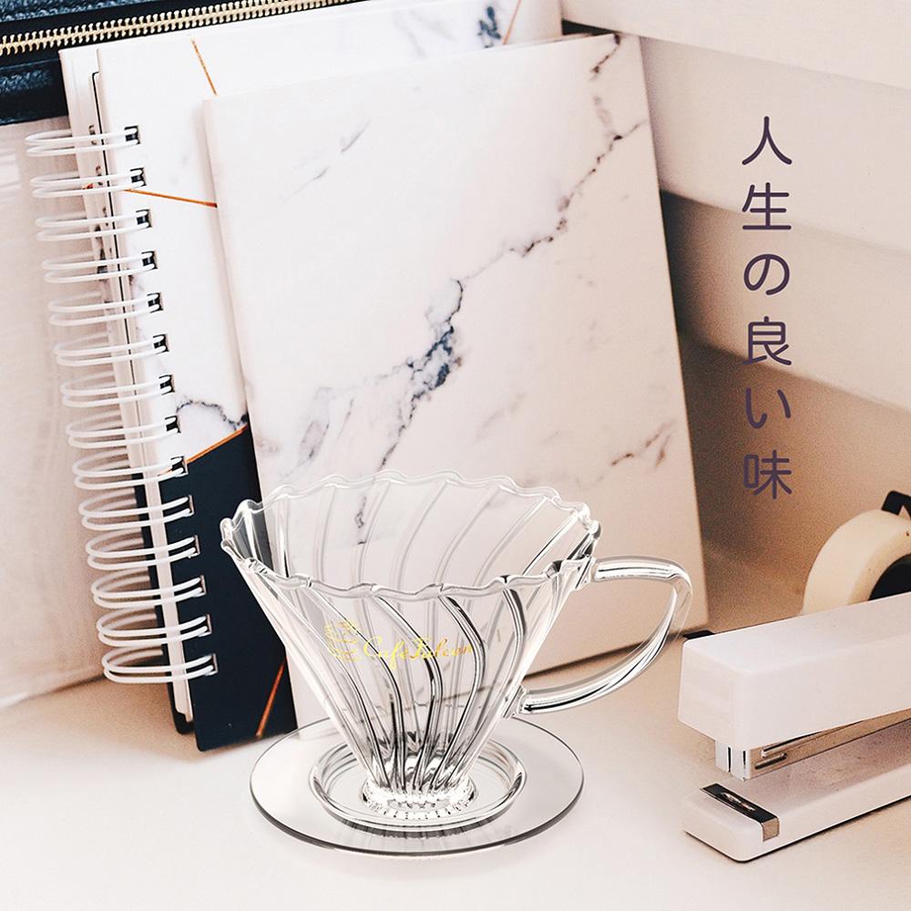 PowerFalcon|CaféFalcon 精品手沖咖啡濾杯組+PureFresh 醇鮮 咖啡磨豆機(第二代)