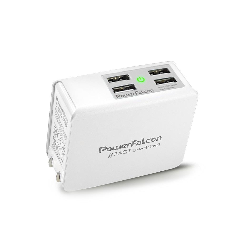 PowerFalcon|4-Port摺疊快速充電器/USB-A