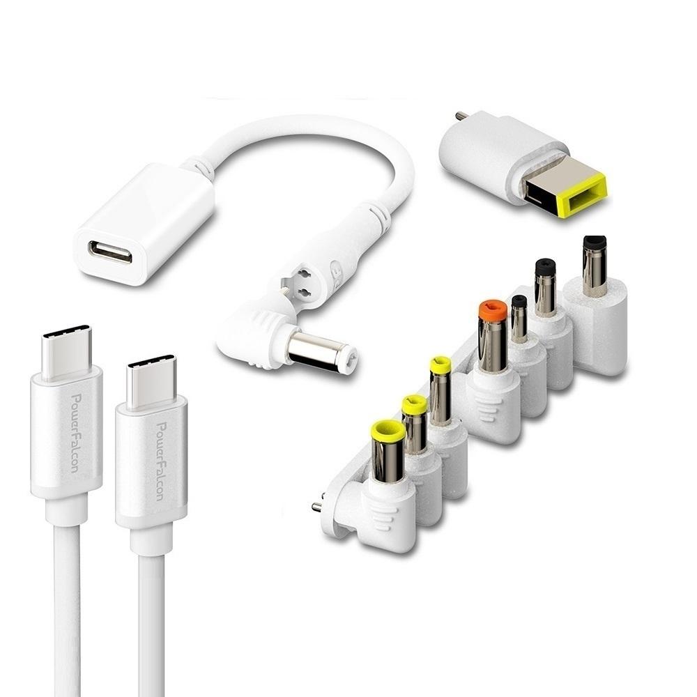 PowerFalcon|MagicTrust 萬用充電線 + 9種轉換頭+USBC線