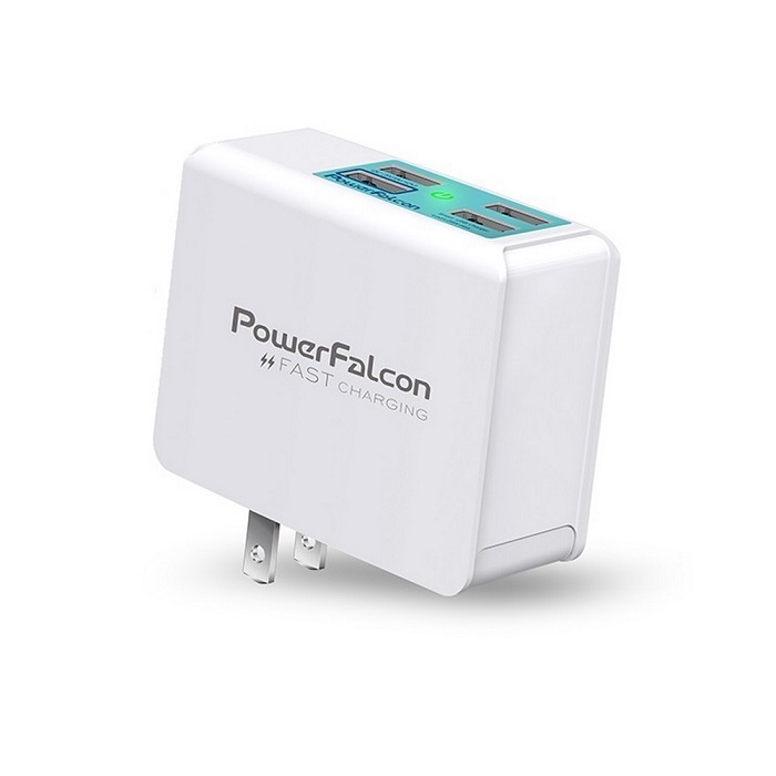 PowerFalcon|3USBA+1QC3快速充電器/摺疊