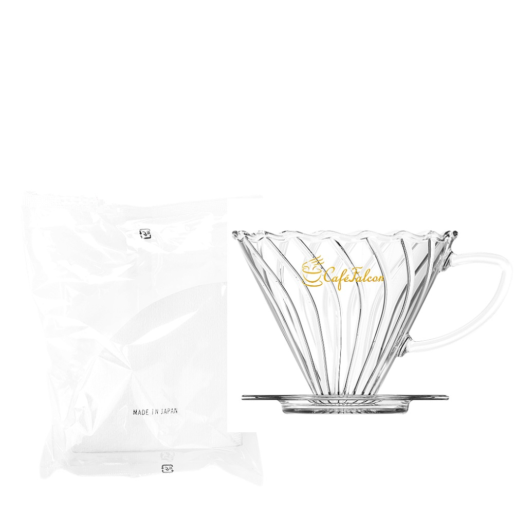 PowerFalcon|CaféFalcon 精品手沖咖啡濾杯+日本原裝三洋濾紙100入