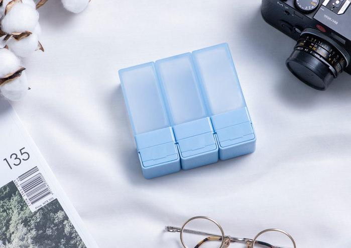 Suzzi|積木旅行分裝瓶 - 三件旅行組(藍M)