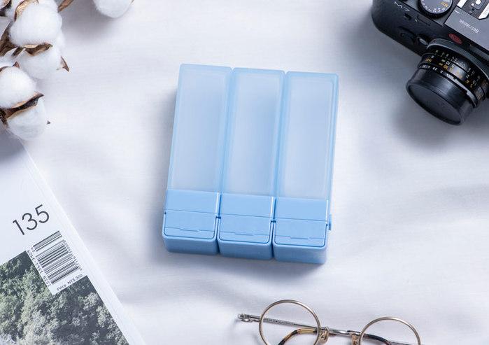 Suzzi|積木旅行分裝瓶  三件旅行組 - 尼斯藍L
