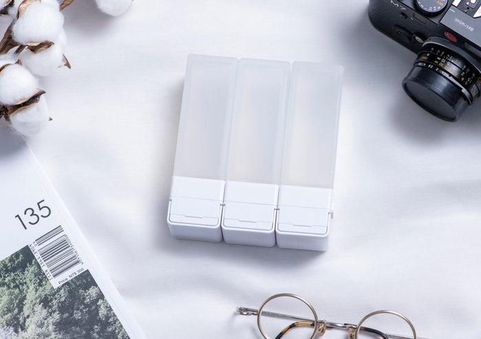 Suzzi|積木旅行分裝瓶 - 三件旅行組(白L)