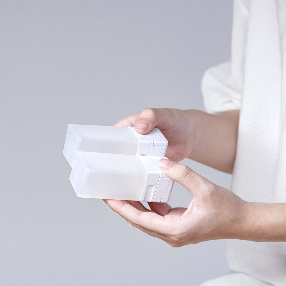 Suzzi|積木旅行分裝瓶 希臘白M 70ml - 三件旅行組