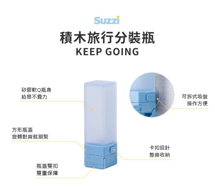 Suzzi|積木旅行分裝瓶 慕尼黑S 50ml - 三件旅行組