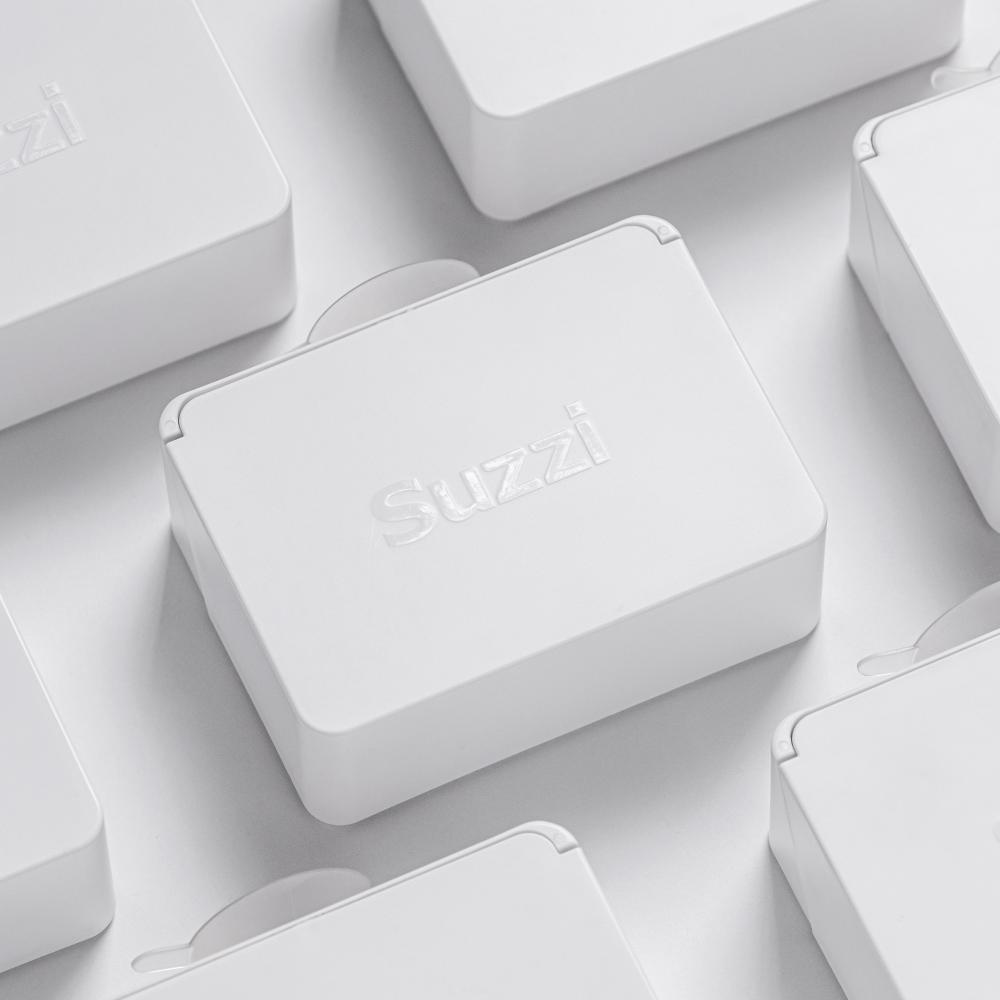 Suzzi|會呼吸的速攜皂盒(希臘白)