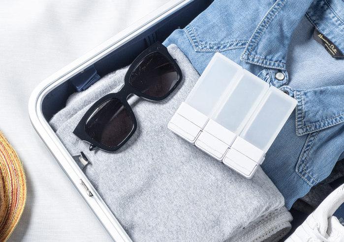 Suzzi|積木旅行分裝瓶  三件旅行組 - 希臘白L