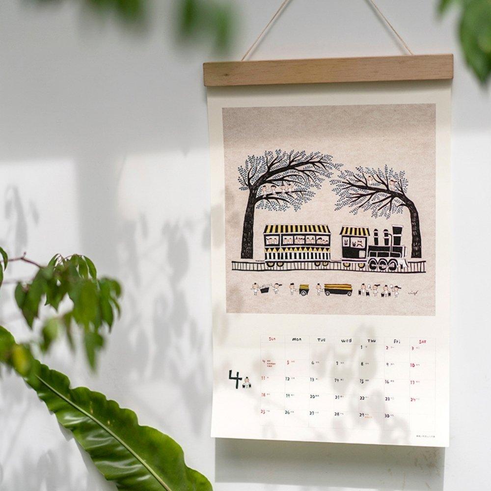 Better Life好感生活研究所|小島散步 2021木框掛曆(2入組)