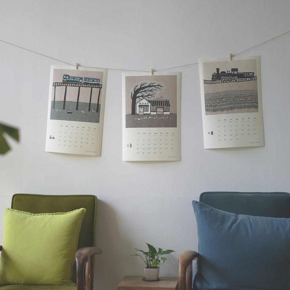 Better Life好感生活研究所|小島散步2022木框掛曆