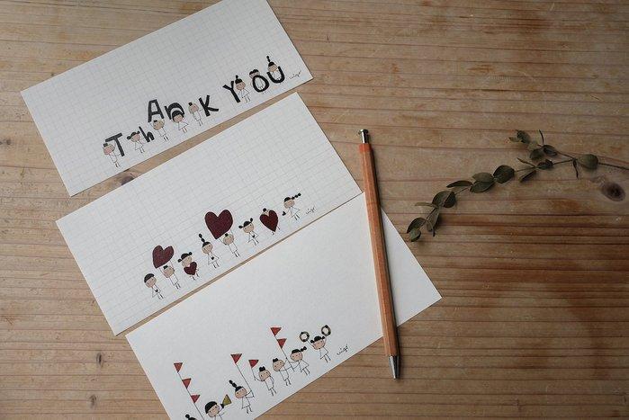 《小島散步》一筆籤小信紙