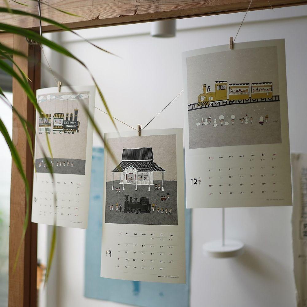 Better Life好感生活研究所 小島散步2022 木框掛曆✕活版印刷工藝桌曆(組合商品)