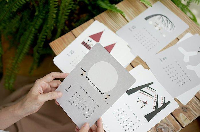 《小島散步》2022活版印刷工藝桌曆|日星鑄字行聯名限量珍藏版