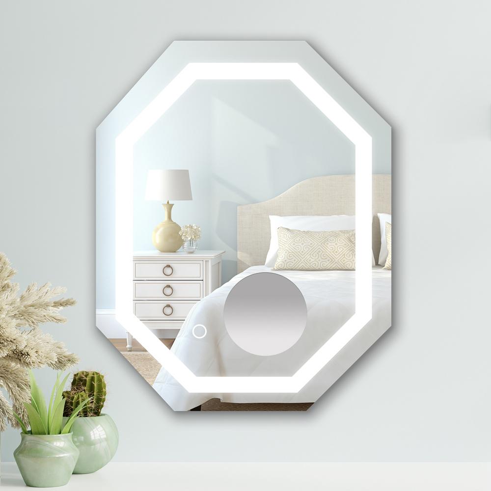 MASA Home 瑪莎家居 iMagic LED調色八角形掛鏡燈-全框燈含三倍放大鏡(拆封新品)
