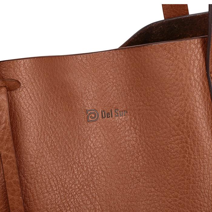 (複製)Del Sur DS 阿根廷頭層牛皮純手工植鞣天然皮革-Puna直式托特包-巧克力棕
