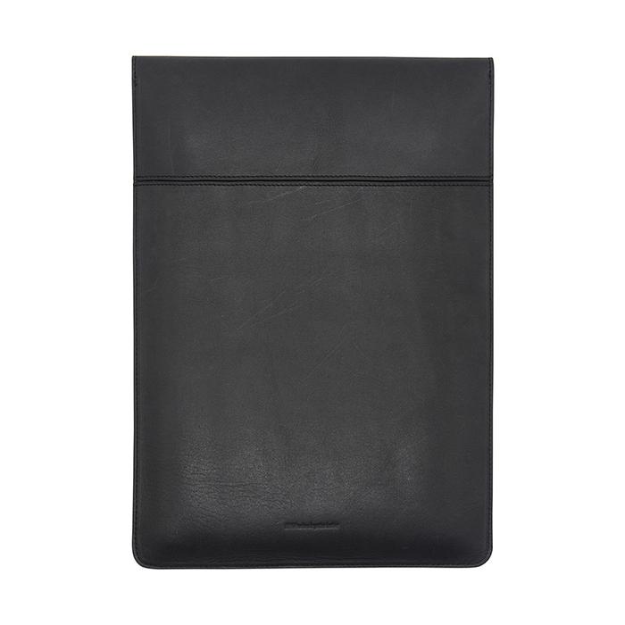 Del Sur|DS 阿根廷頭層牛皮純手工植鞣天然皮革-13.3直式電腦包-經典黑