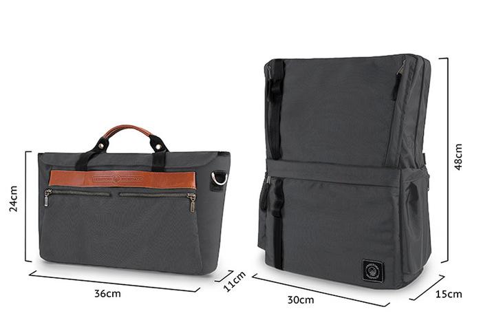 (複製)FREESTONE|Briefpack 雙面變形包-月石灰
