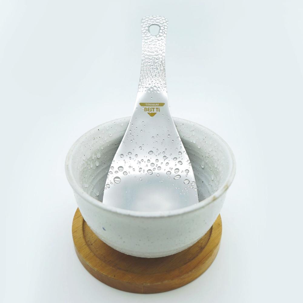 BEST Ti|職人技錘目紋純鈦飯勺 飯匙 挖飯勺 拌飯匙