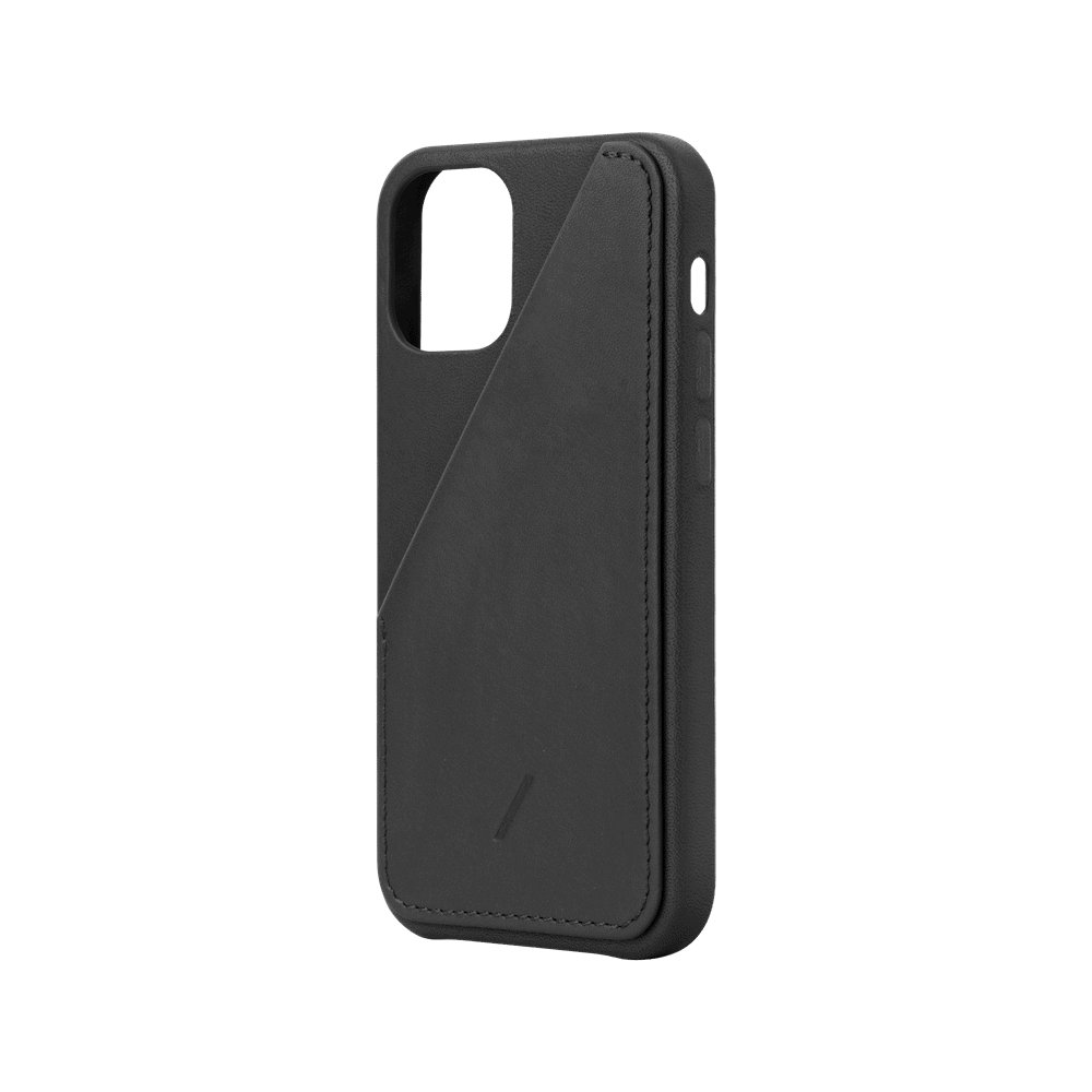NATIVE UNION|iPhone 12 CLIC CARD 插卡式皮革手機殼-正黑