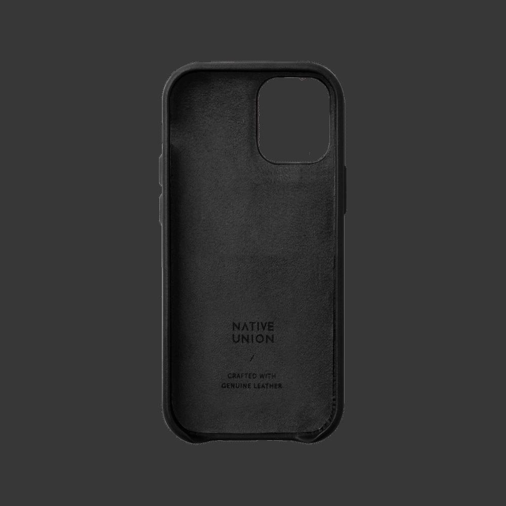 NATIVE UNION iPhone 12 CLIC CLASSIC 經典皮革手機殼-正黑