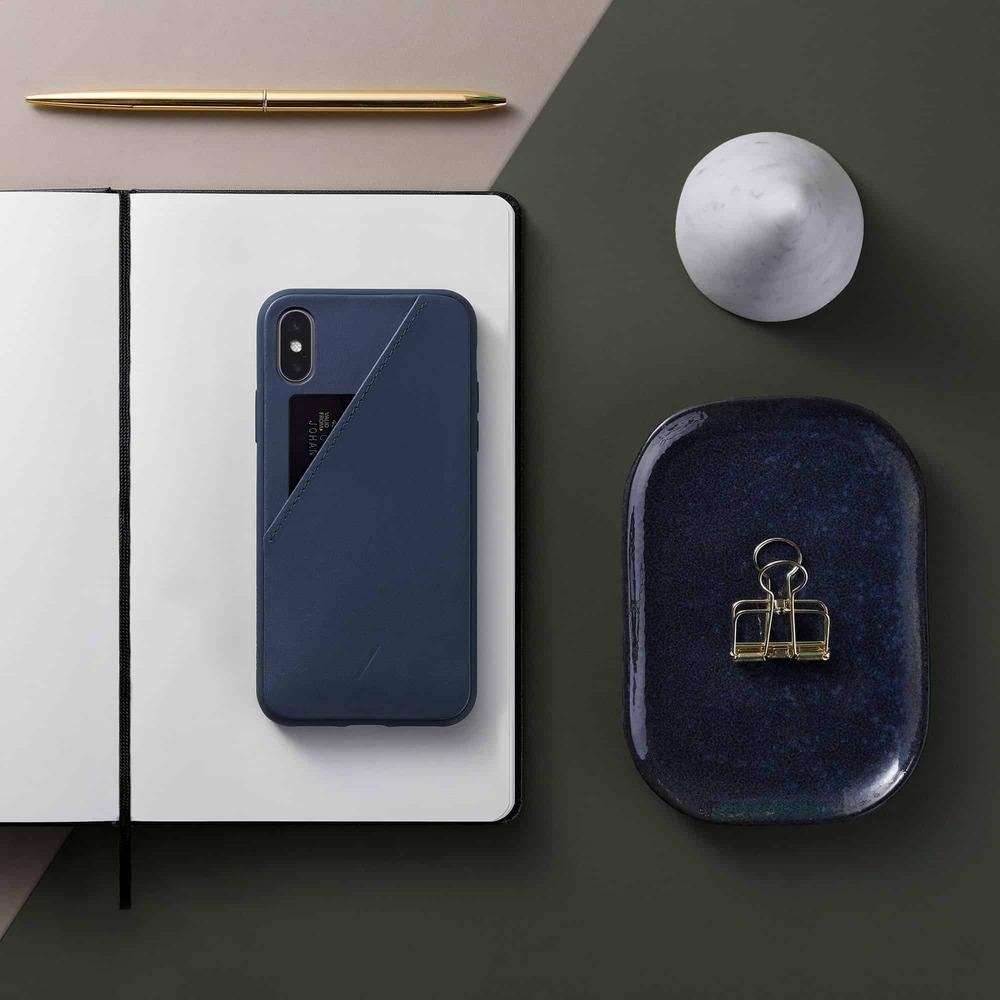 NATIVE UNION|iPhone 11 CLIC CARD 插卡式皮革手機殼-藏青