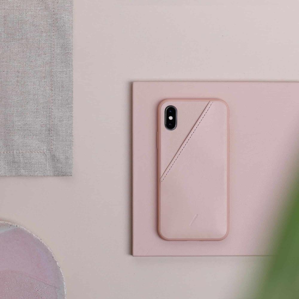NATIVE UNION iPhone 11 CLIC CARD 插卡式皮革手機殼-柔霧粉