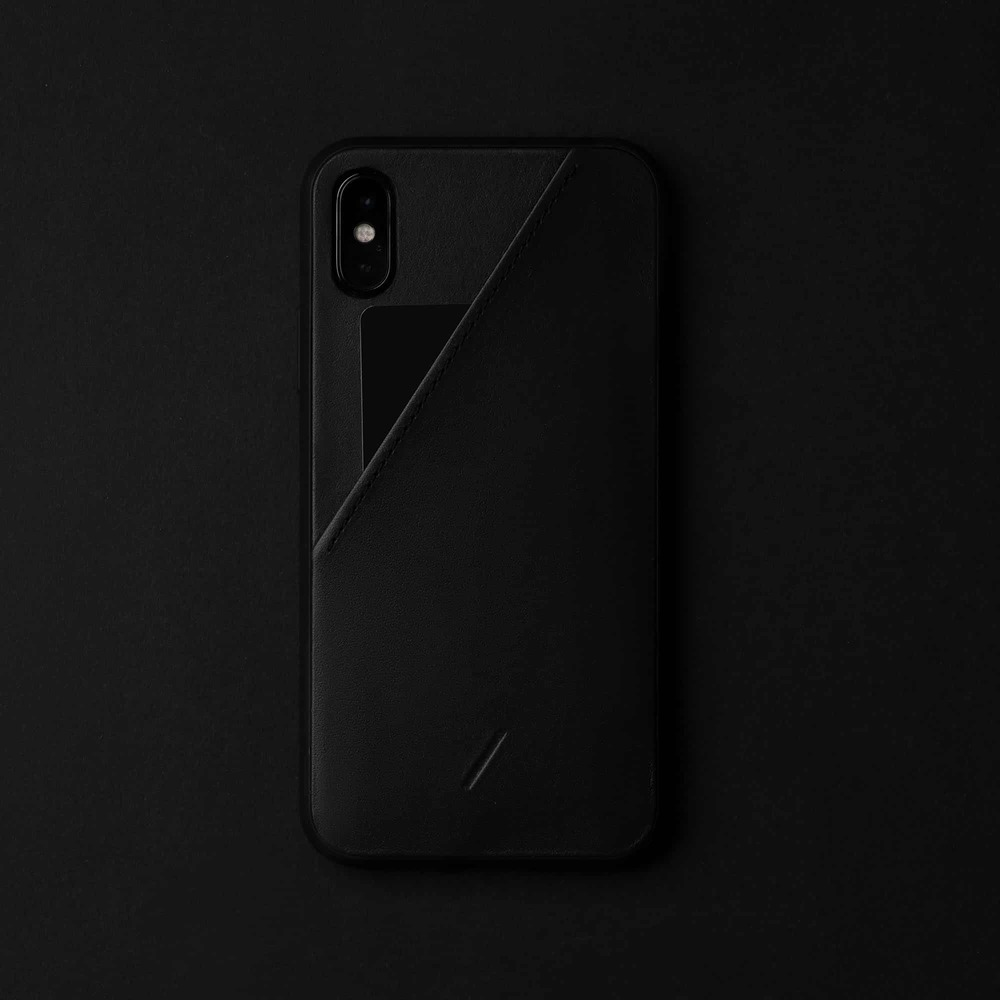 NATIVE UNION iPhone 11 CLIC CARD 插卡式皮革手機殼-正黑