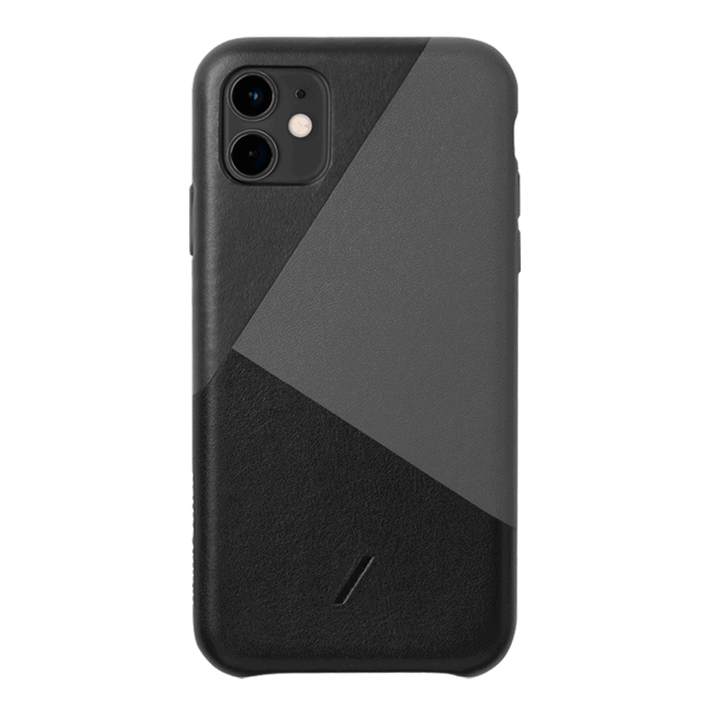 NATIVE UNION iPhone 11 CLIC 拼接皮革手機殼 正黑