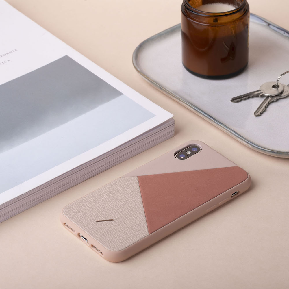 NATIVE UNION|iPhone 11 CLIC 拼接皮革手機殼 柔霧粉