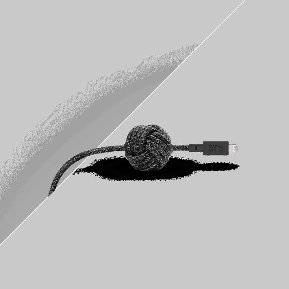 NATIVE UNION|3公尺 床邊充電線 Lightning - 宇宙黑