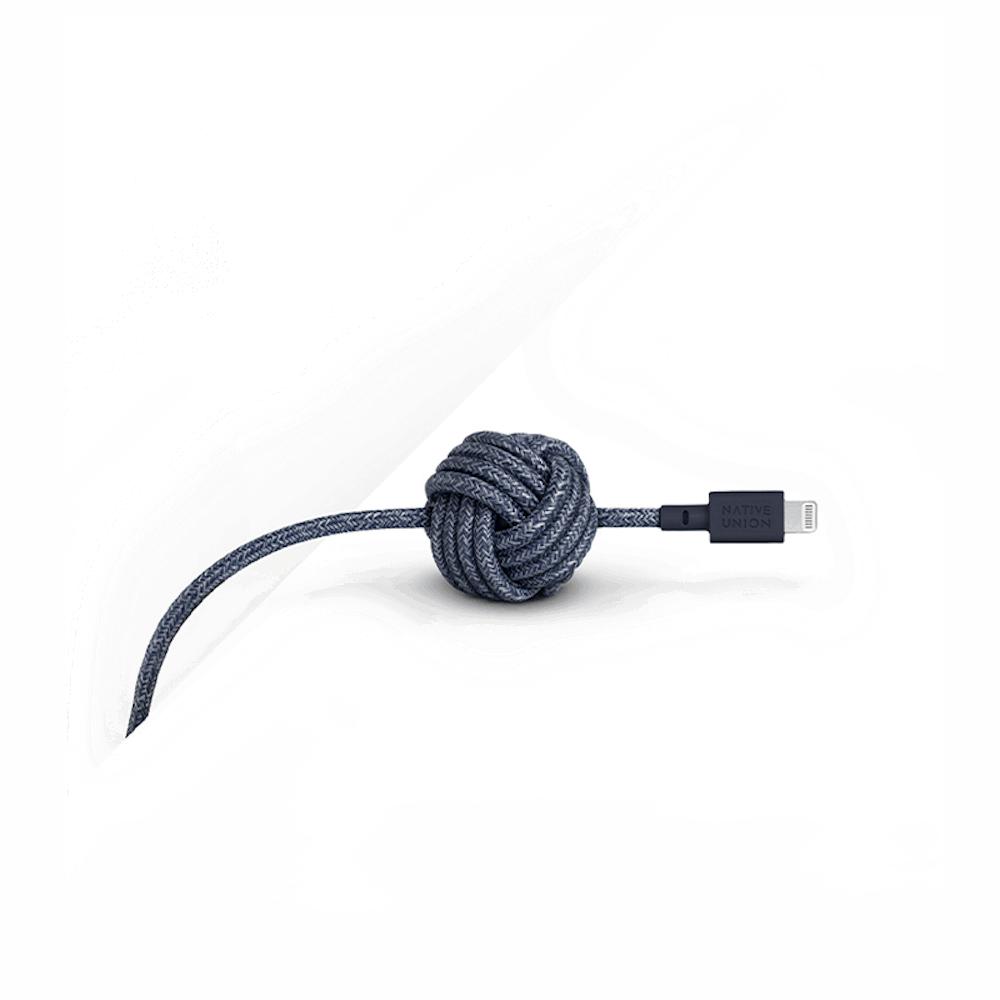 NATIVE UNION|3公尺 床邊充電線 Lightning - 靛藍