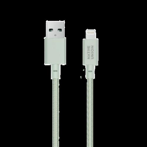 NATIVE UNION|3公尺 床邊充電線 Lightning - 薄荷綠