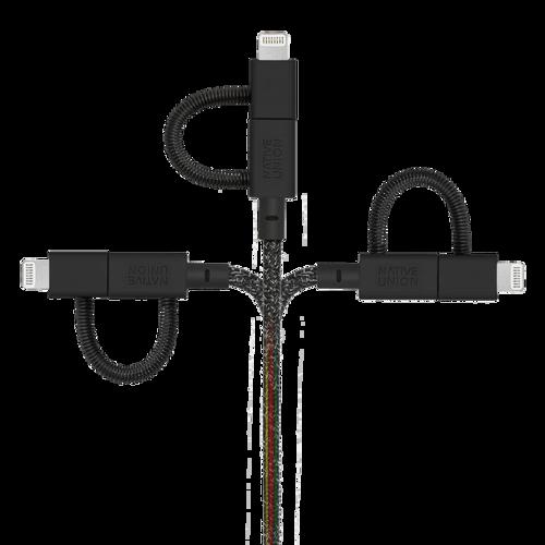 NATIVE UNION 3合1收納式充電線 - 宇宙黑