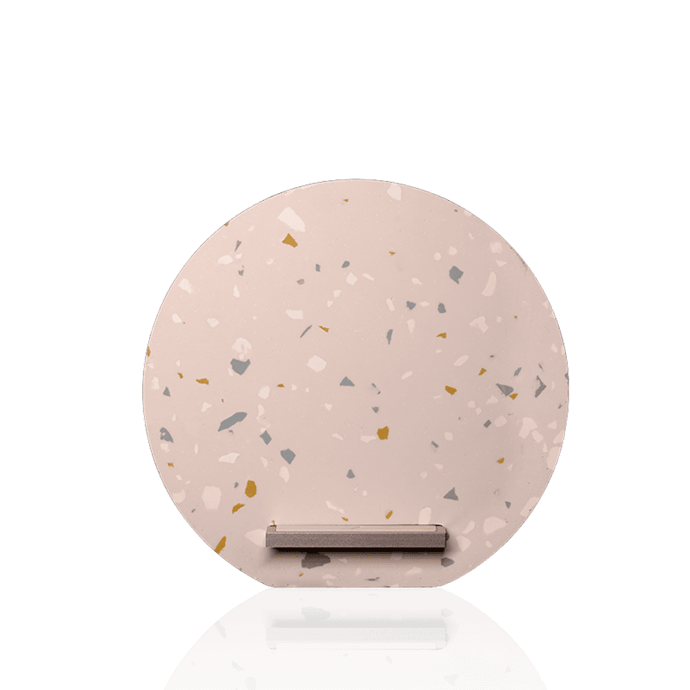 NATIVE UNION|Dock 水磨石無線充電座 - 柔霧粉