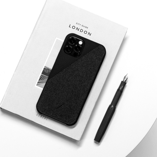 NATIVE UNION|iPhone 12 CLIC CANVAS 織布手機殼-正黑