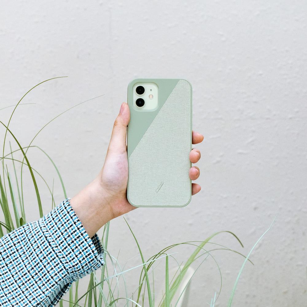 NATIVE UNION|iPhone 12 CLIC CANVAS 織布手機殼- 薄荷綠