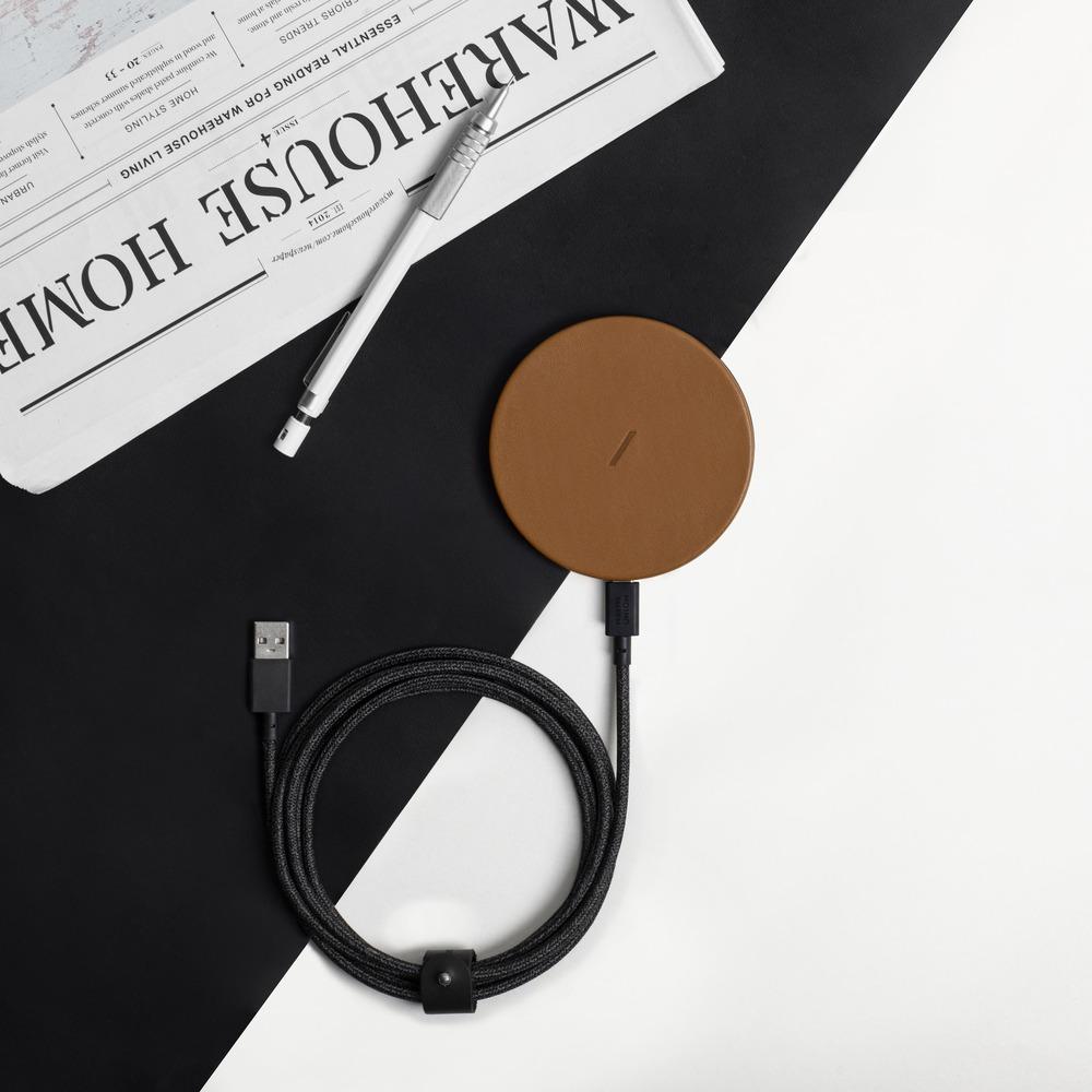 NATIVE UNION|Drop 經典皮革無線充電盤 經典棕