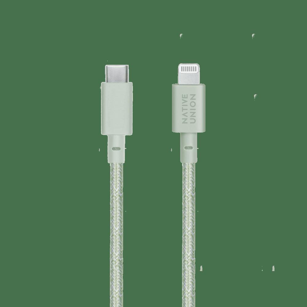 NATIVE UNION|1.2公尺充電線 USB C-Lightning - 薄荷綠
