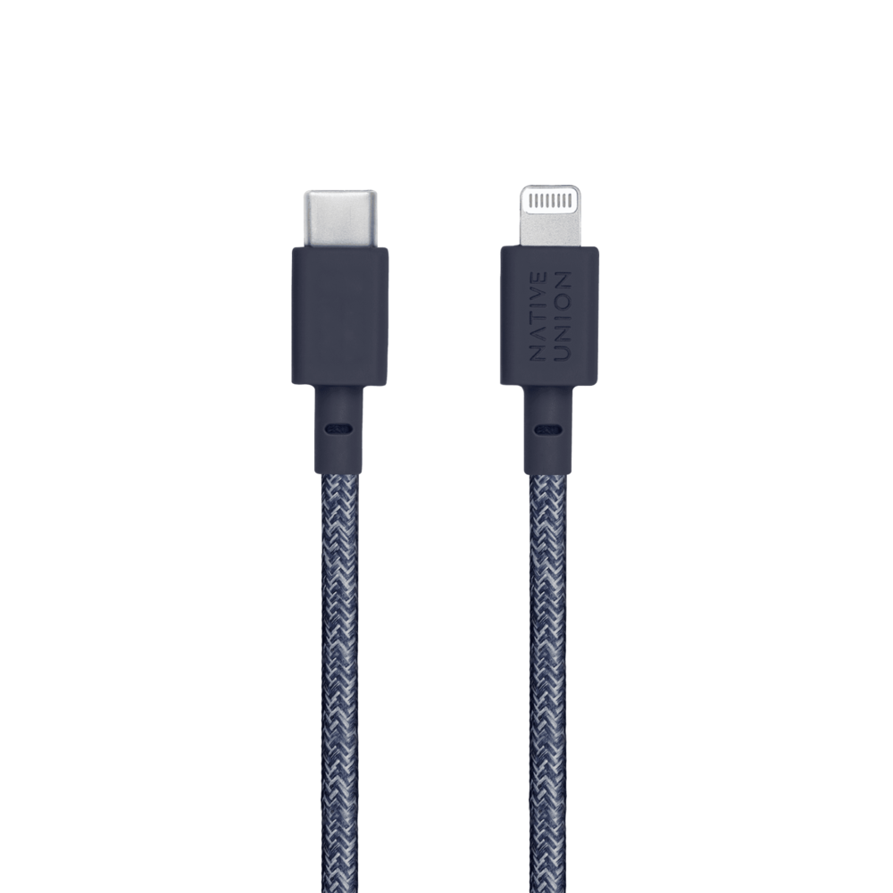 NATIVE UNION|1.2公尺充電線 USB C-Lightning - 靛藍